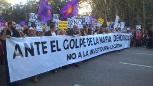 España: «Ante el golpe de la mafia, democracia»