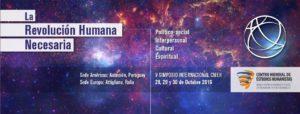 La révolution humaine nécessaire : plus qu'un symposium, un événement essentiel