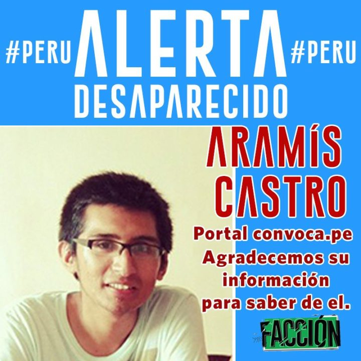 Perú: periodista desaparecido