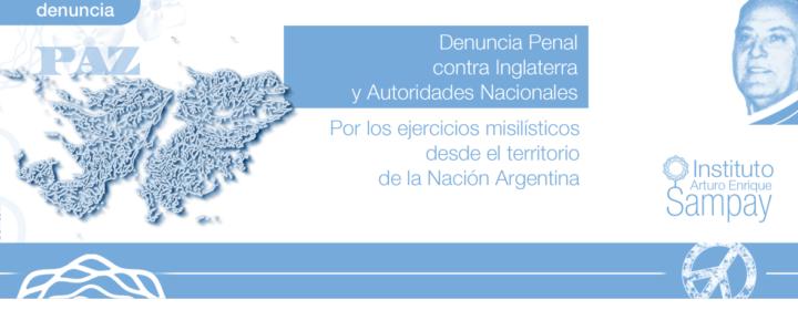 Denuncia contra Gran Bretaña y autoridades argentinas