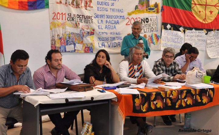 Marzo 2016. Toma de la Ex Esma por la Mesa de Pueblos indígenas, antecedente inmediato del Consejo Consultivo, reclamando el reconocimiento del gobierno.