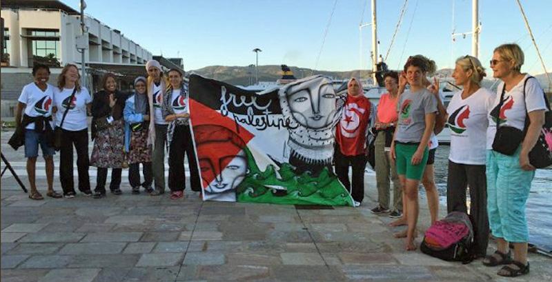 La armada israelí asaltó el barco de Mujeres Rumbo a Gaza 'Zaytouna-Oliva' en aguas internacionales