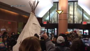 Dakota Access Pipeline Protest Targets Clinton Campaign Headquarters