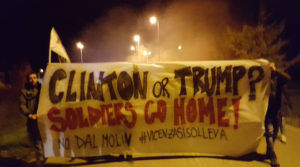 'Soldiers go home' – Italians protest American base on US Election Day