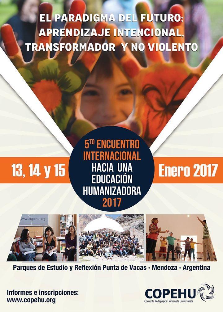 """Encuentro Internacional de Educación sobre """"aprendizaje intencional, transformador y no violento"""""""