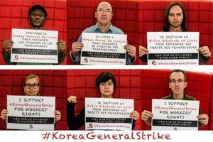 Corée : Grève générale pour la défense des droits des travailleurs