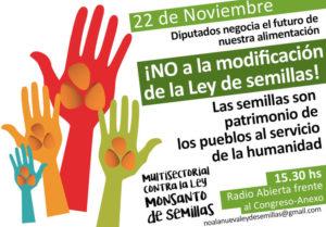 ¡No a la nueva Ley de Semillas Monsanto! No a la privatización de las semillas y la vida!