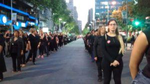 Marcha de Mujeres de Negro en Montevideo