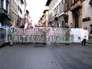Firenze: presidio no tunnel TAV