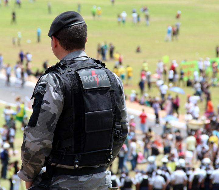 ROTAM, Rondas Ostensivas Táticas Motorizadas Polícia Militar do Distrito Federal. Imagem: Andre Gustavo Stumpf.