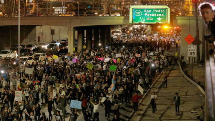 """""""Not My President"""": Tens of Thousands Nationwide Protest Trump's Election"""
