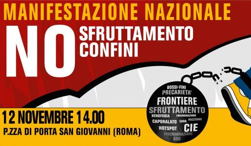 Manifestazione nazionale il 12 novembre contro il ricatto del permesso di soggiorno