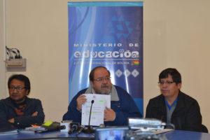 Entrevista con Roberto Aguilar, ministro de educación del Estado Plurinacional de Bolivia