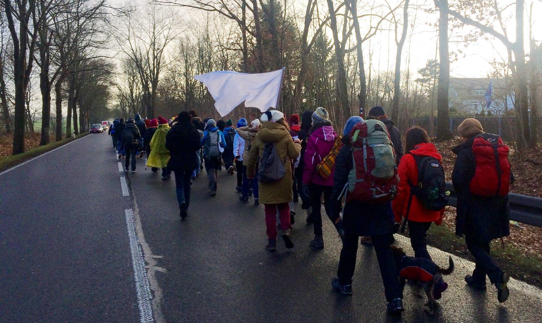 #CivilMarchForAleppo salió desde Berlín
