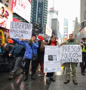 Rally Demanding FREEDOM for jailed Argentine leader Milagro Sala