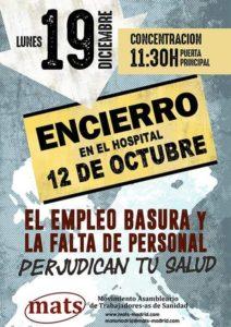 Encierro en Madrid para pedir sanidad de calidad