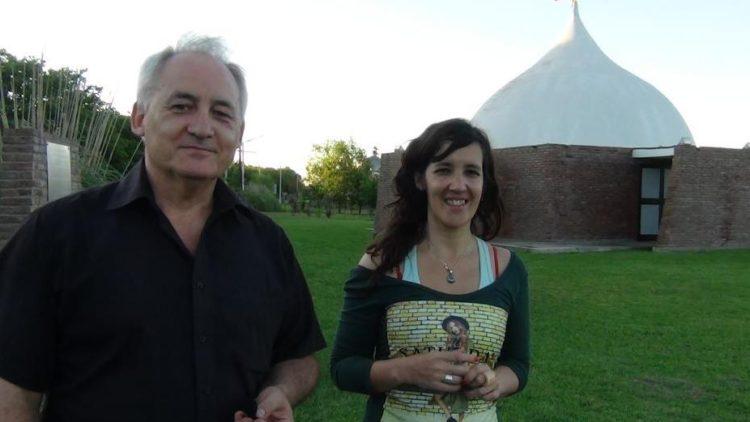 Gomez Fiori junto a Andrea Novotny