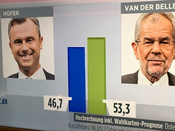Austria: gana el candidato verde con un ojo en tinta azul!