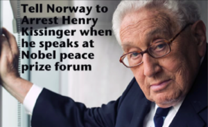 Norway to prosecute Henry Kissinger