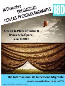 Acto en solidaridad con los inmigrantes en Madrid