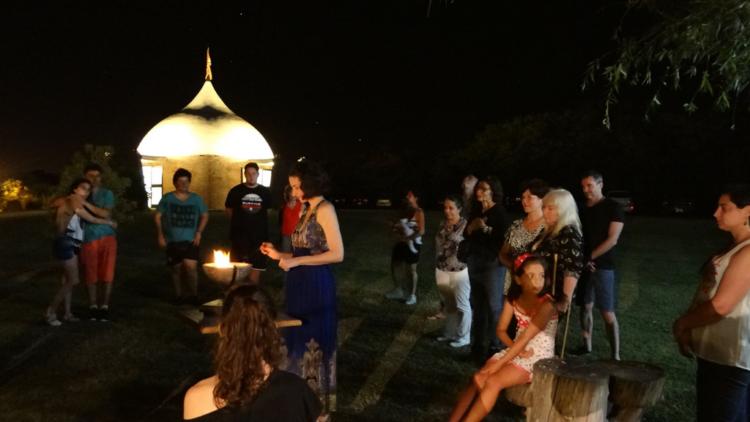 Ceremonia de Quema de Pedidos en Parque Carcarañá