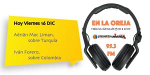 Turquía y Colombia en Pressenza Internacional En la Oreja 16/12/2016