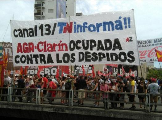380 despidos en AGR Clarín: jornada de lucha en todo el país