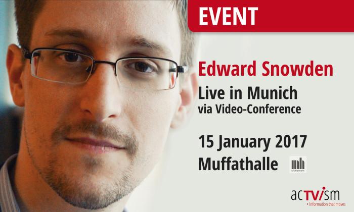 """Edward Snowden in München: Event """"Freiheit & Demokratie – Globale Themen im Kontext"""""""