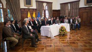 Annunciato a Quito l'inizio della fase pubblica dei negoziati con l'ELN