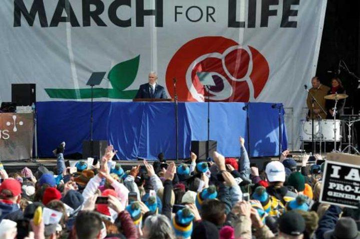 Vicepresidente de EE.UU. participa en marcha antiaborto