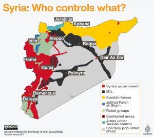 Συρία: ποιεs δυνάμειs ελέγχουν τα εδάφη
