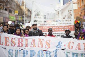 London: Hundreds protest against immigration raids