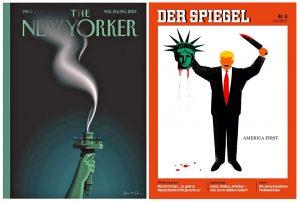A assombrosa visão de liberdade na América de Trump, em duas capas de revista