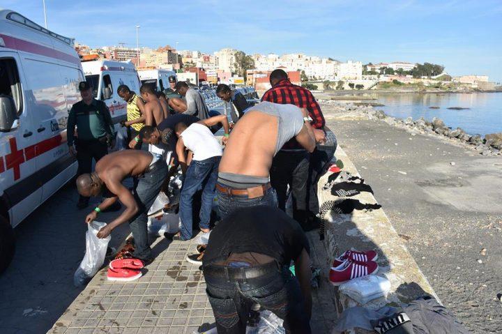 Nueva llegada de migrantes a Ceuta