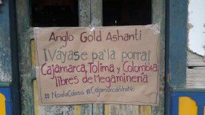 Un pueblo de Colombia le dice «NO» a la multinacional minera Anglo Gold Ashanti