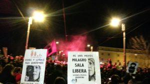 Nachricht von Milagro Sala während des Umzugs des 8. März in Rom verlesen