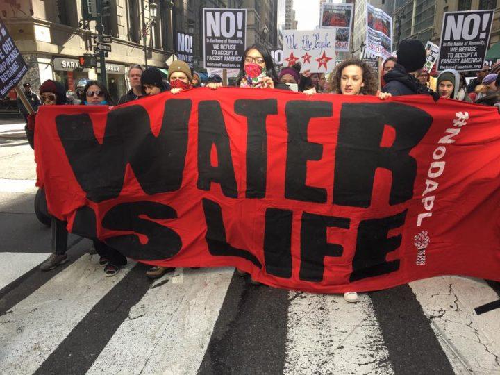Marcia per Standing Rock a New York