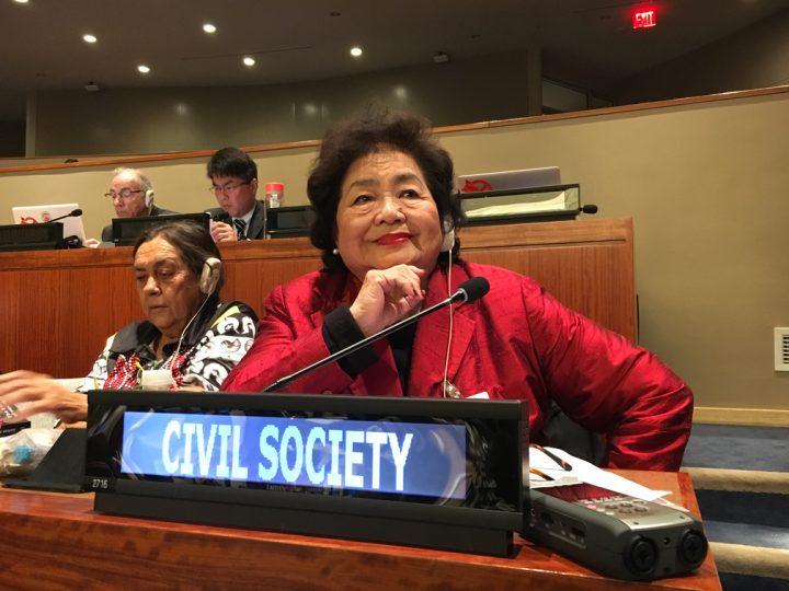 Setsuko Thurlow, hibakusha,  discorso alla conferenza per disarmo nucleare