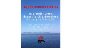 Acción de denuncia de las muertes en el Mediterráneo y el incumplimiento de cuotas