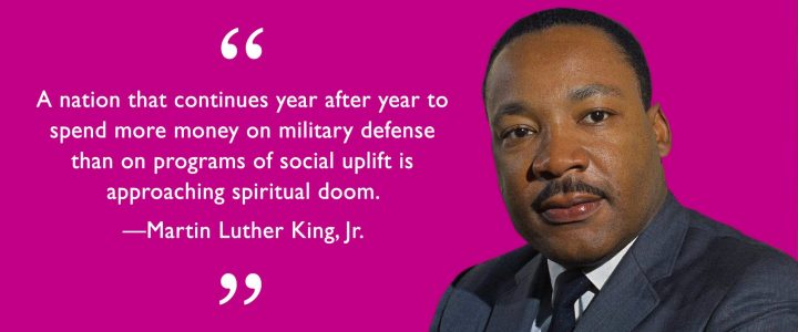 50 years after Martin Luther King: #No54BillionforWar