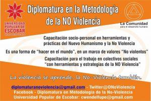 Diplomatura en la Metodología de la No-violencia en Universidad Popular de Escobar, Buenos Aires, Argentina