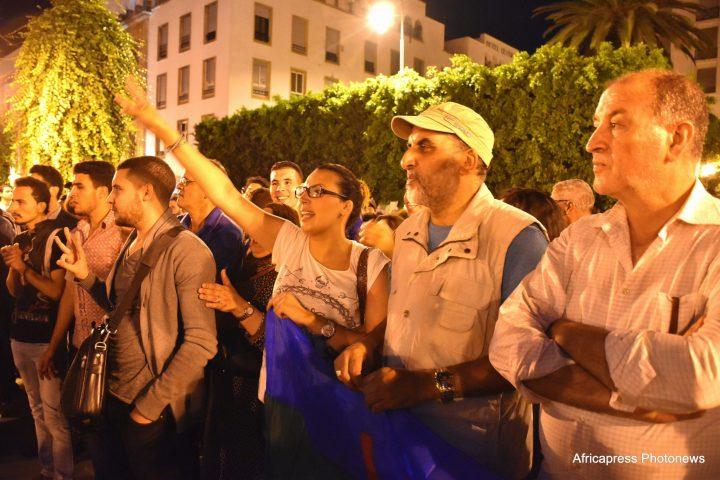 Protestas en Rabat como apoyo al conflicto en el Rif