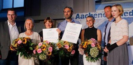 I No MUOS insigniti del Premio Internazionale per la Pace ad Aquisgrana
