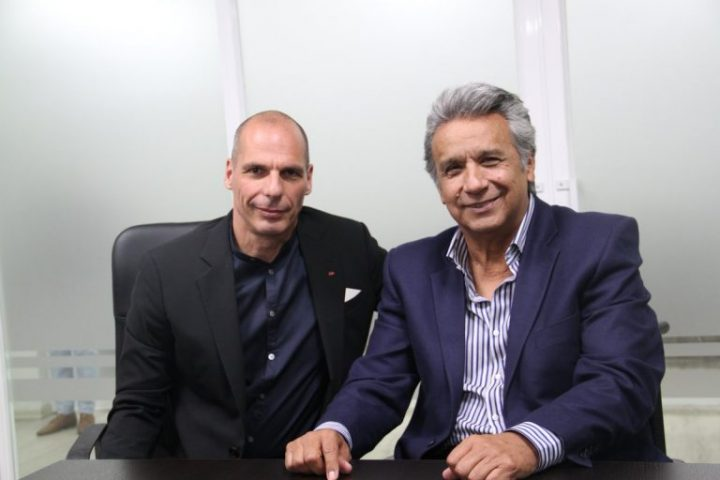 DiEM25 co-founder Yanis Varoufakis meets with Ecuador's President-elect Lenín Moreno in official visit