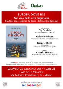 """""""L'isola dei Giusti"""", presentazione a Milano"""