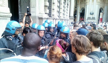 Cronaca dell'aggressione fascista dentro Palazzo Marino (perché non rimangano dubbi)
