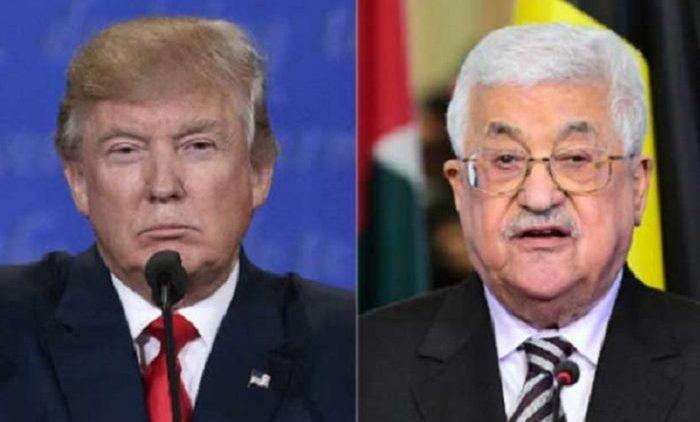 trump abu mazen palestina