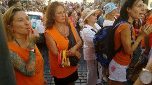 Roma, al Pantheon alcune centinaia di manifestanti contro i vaccini obbligatori