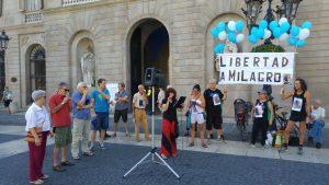 Nou acte a Barcelona demanant l'alliberament de Milagro Sala