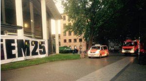 Falscher Feueralarm kurz vor Assanges Video-Auftritt bei DiEM25-Veranstaltung in Hamburg